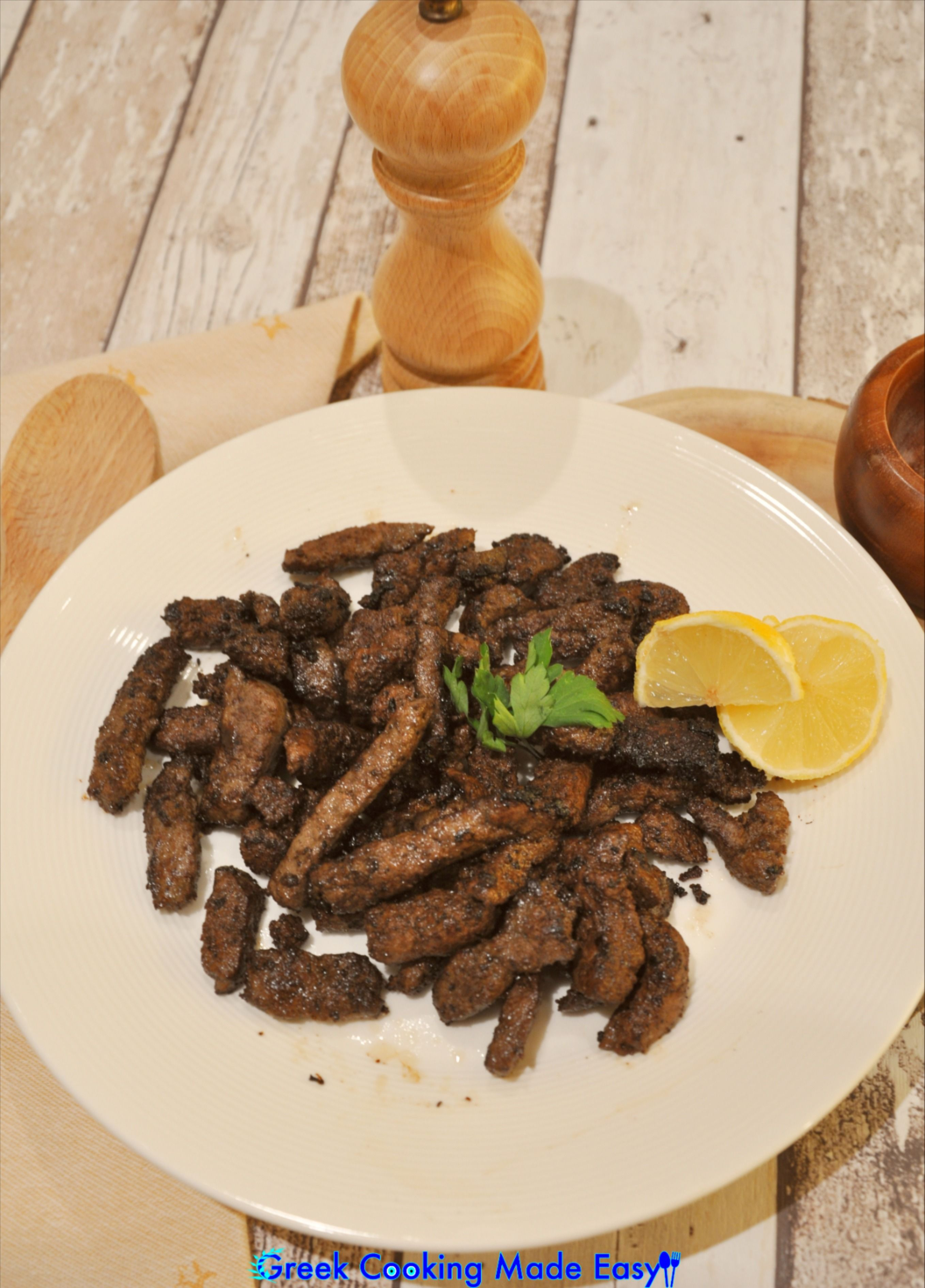 This is a non-Greek recipe that my beloved Mom shared with me. Livers are marinated with a spicy sauce and then fried, to give a superb & quite appetizing taste! If you're not sure that you enjoy eating liver, then try my Mom's very easy recipe & I bet you will change your mind! #egypt #liver #συκωτάκια #συκώτι #αίγυπτος #Foodbloggers #homemadefood #greece #greek #greekrecipes #hereismyfood #delicious #homecooking #συνταγες #greekcookingmadeeasy #love #mediterraneandiet #madebyme #likemygrandma