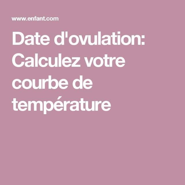 Date d'ovulation: Calculez votre courbe de température
