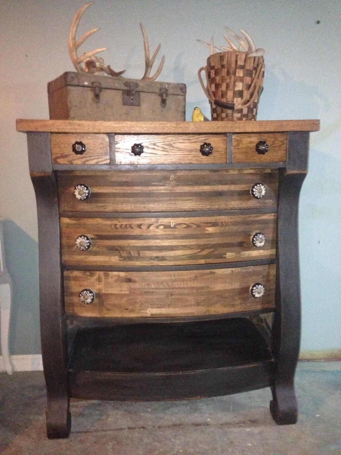 For Sale: Rustic antique dresser chest - Very rustic solid ...