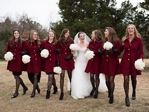 I so very much WANT this coat -Pantone's 2015 Color: 100 Marsala Wedding Ideas | HappyWedd.com