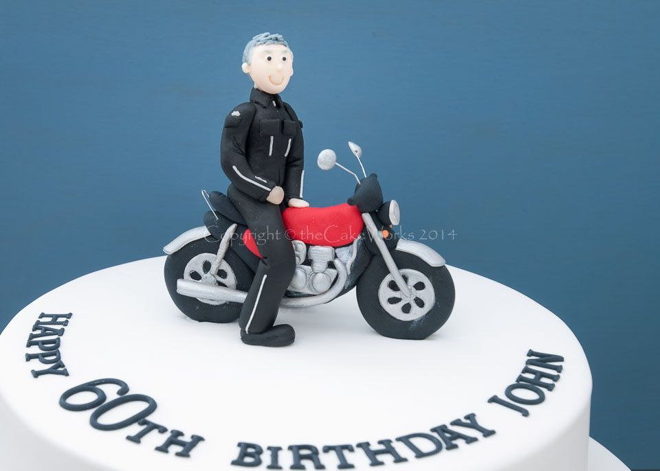 Motorbike Cake For Kids Mens cakes 60th biker cake Tutorials