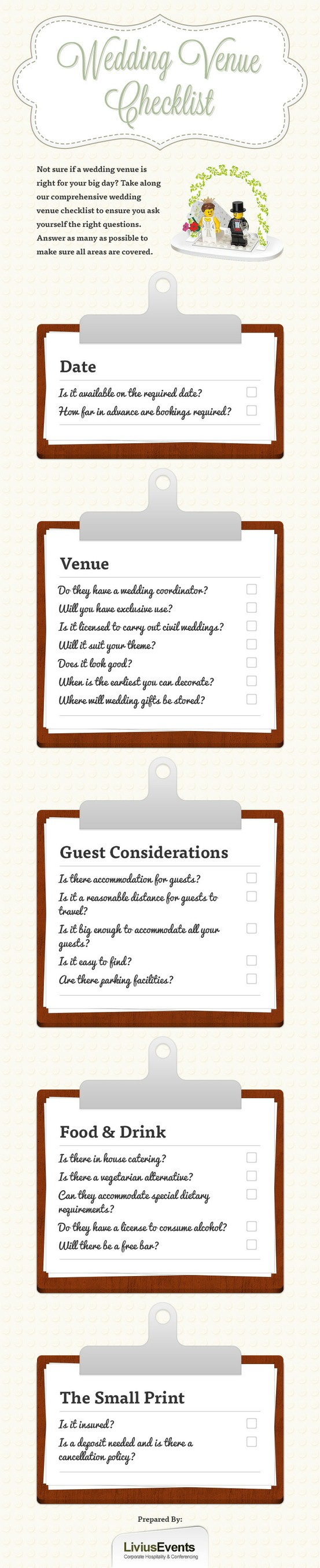 Important venue checklist | Wedding infographic, Wedding ...