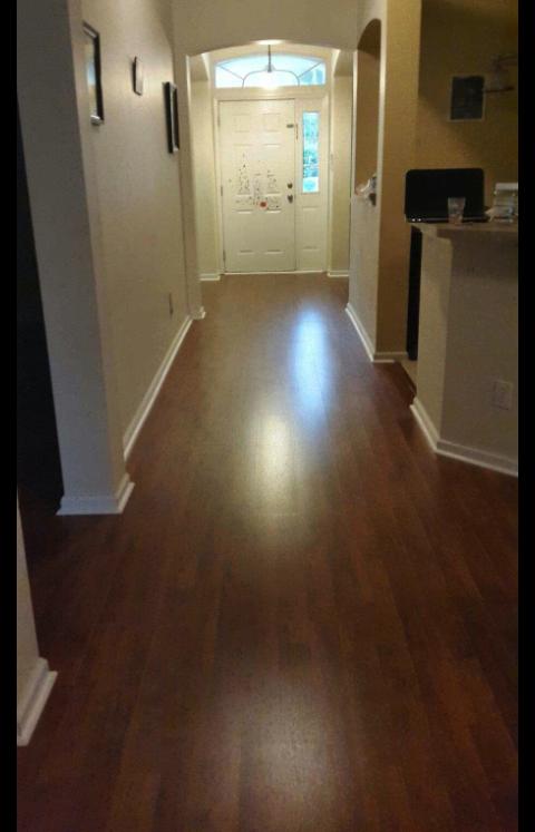 After Standards 8 3 Mm Lava Walnut Laminate From Blah To Beautiful Beautiful Flooring Flooring Hardwood
