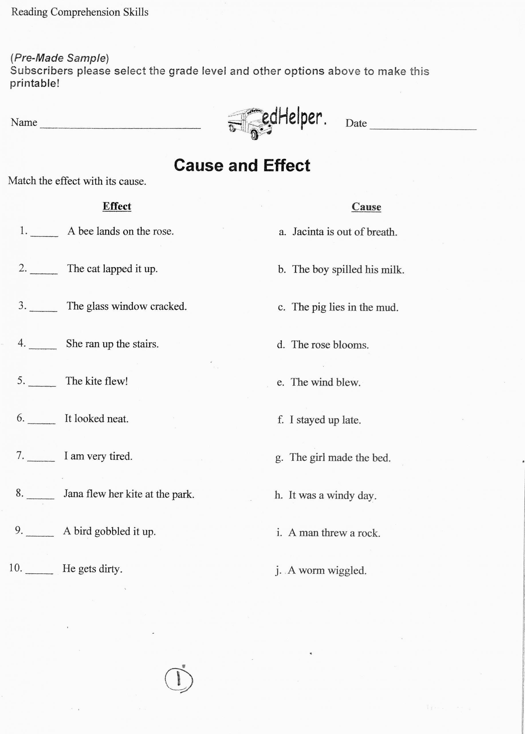 9th Grade Vocabulary Worksheet Language Arts Worksheet Cause And Effect In 2020 Language Arts Worksheets 6th Grade Writing Writing Worksheets