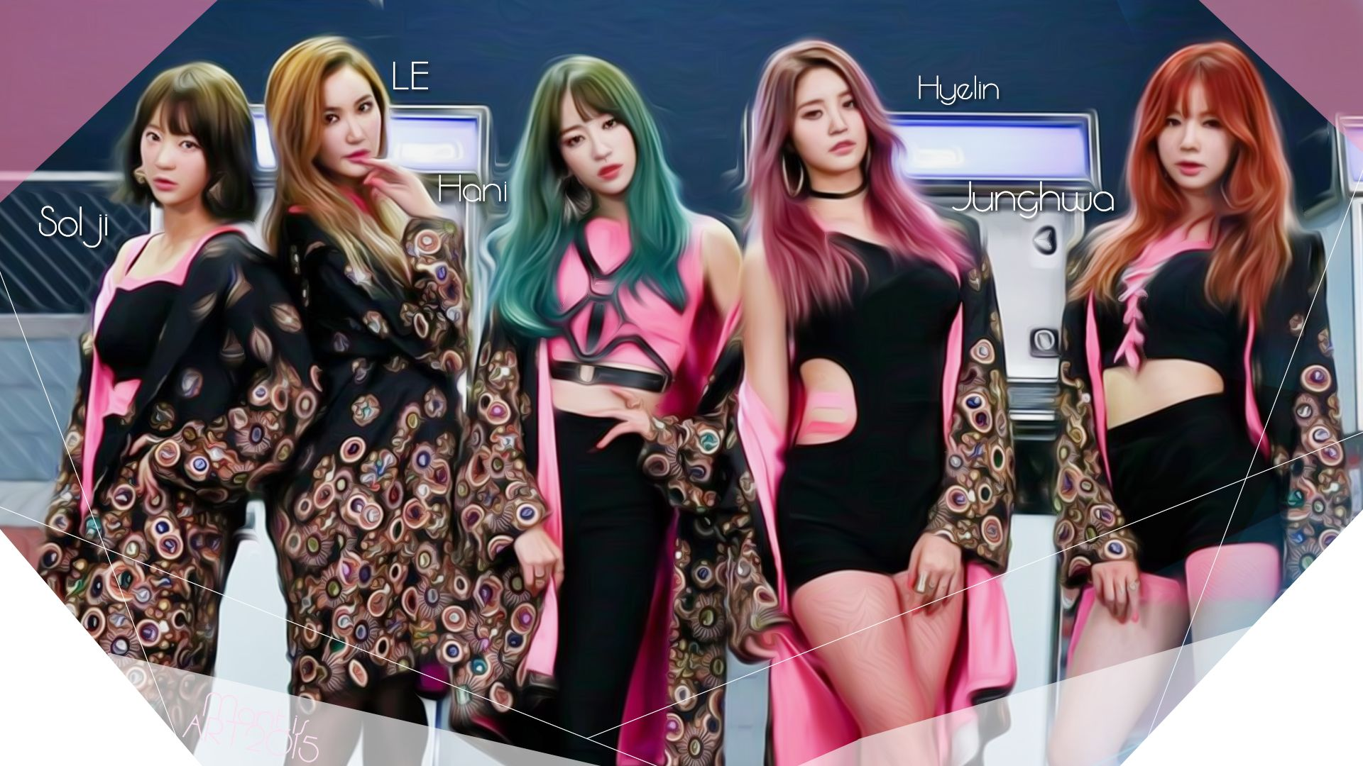 EXID Hot Pink My Wallpaper Pinterest And