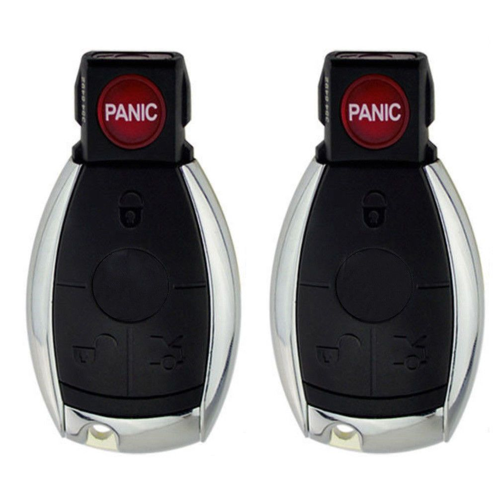 2 x Uncut Remote Key Shell Fit for MercedesBenz Replace