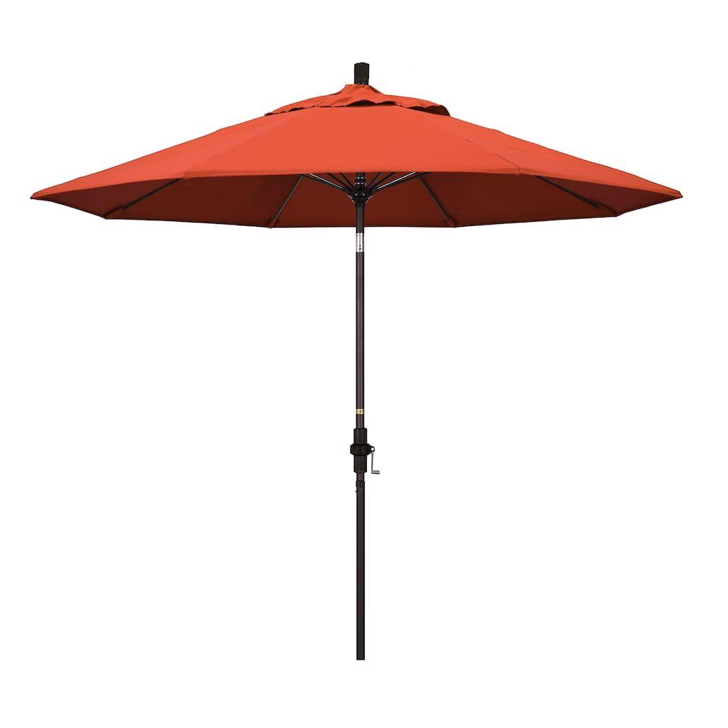 California Umbrella 9 Ft Sun Master Bronze Finish Patio Umbrella