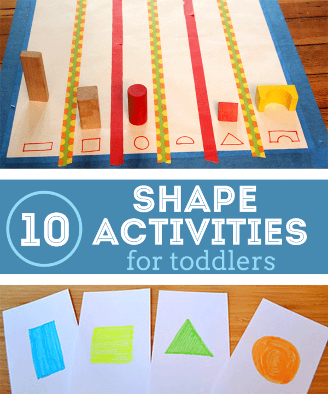 10 Shape Activities for Toddlers! It\'s Hip to be Square! | Things I ...