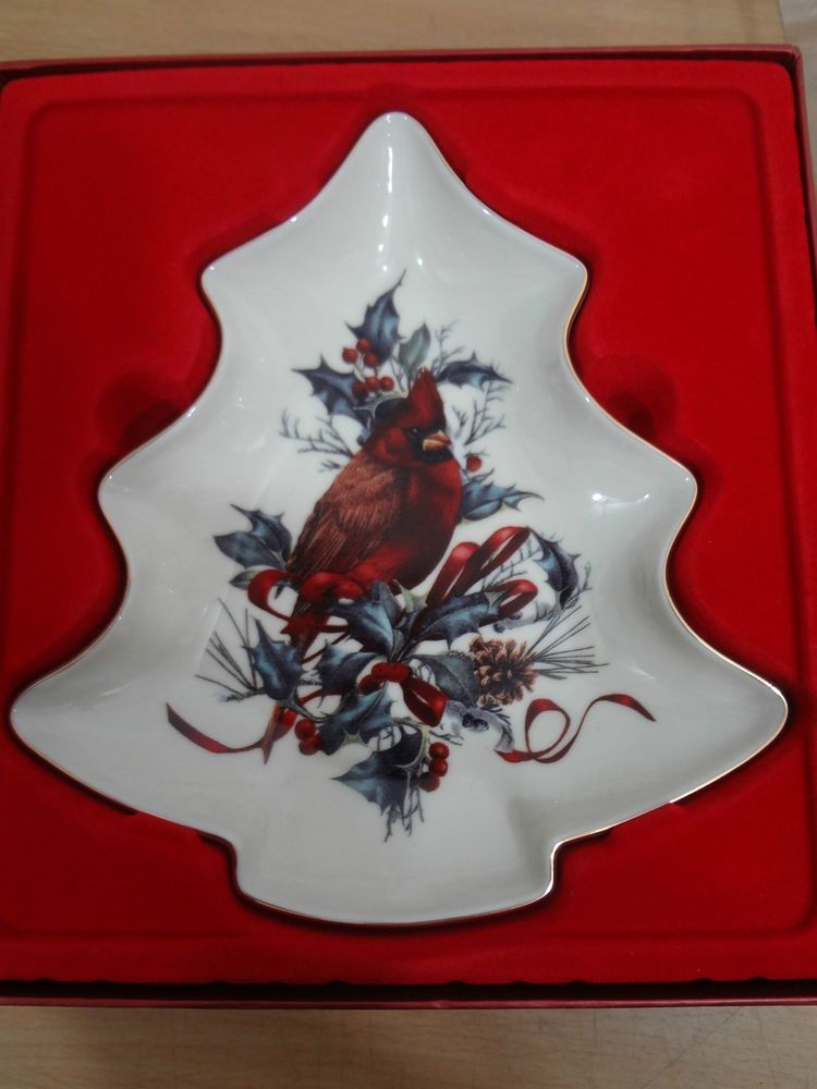 Lenox china winter greetings tree candy dish cardinal catherine lenox china winter greetings tree candy dish cardinal catherine mcclung new 43 m4hsunfo
