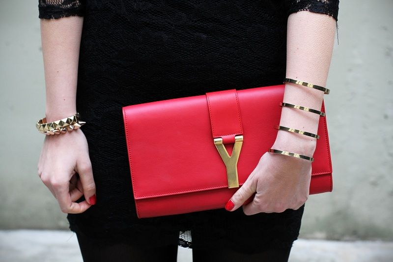 3deef3cfcd Thinking about what bag to wear during MFW... -- #ysl #bag #red ...