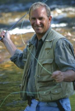 Even A-list celebrities find relaxation in fly fishing (but really, who couldn't!). The New Fly Fisher found this great photo of actor Kevin Michael Costner fly fishing!
