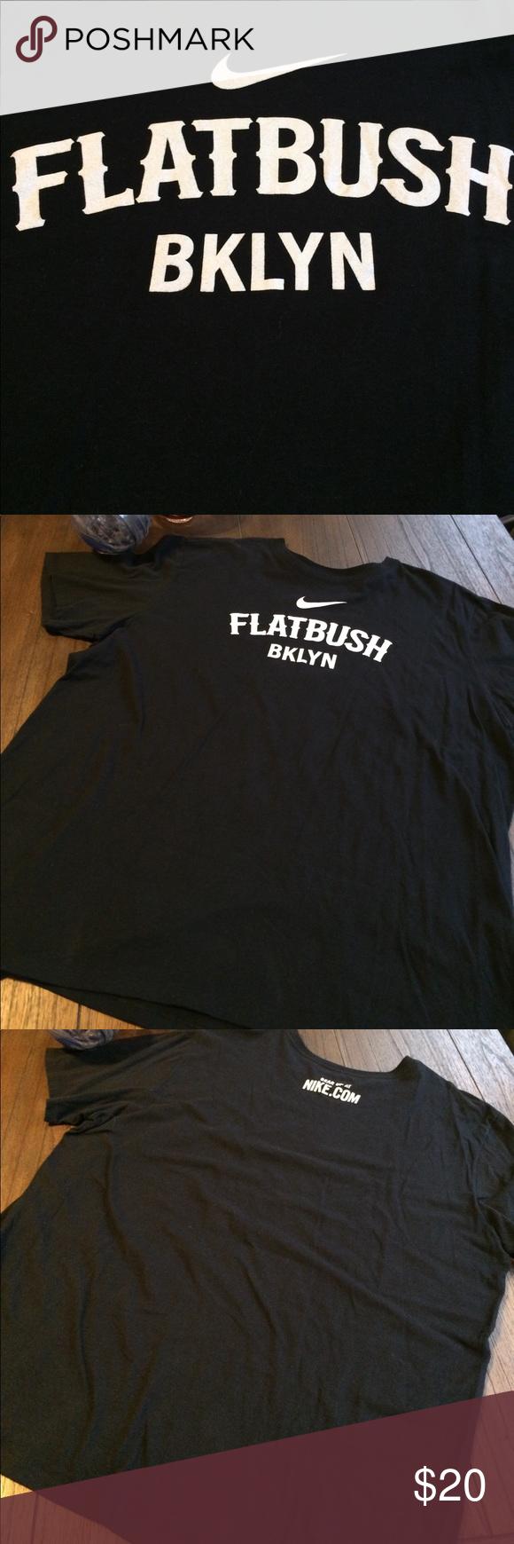 2ee534783 Nike Limited Edition 'Flatbush, Bklyn' Tee EUC Nike limited edition ' Flatbush, Bklyn' Tee. Black with white lettering. Nike Shirts Tees - Short  Sleeve