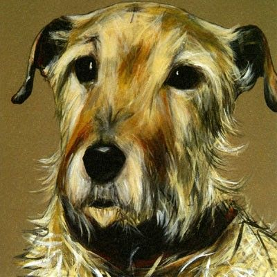"""Lucy"" - from a stunning painting of a terrier by Olivia Brown"