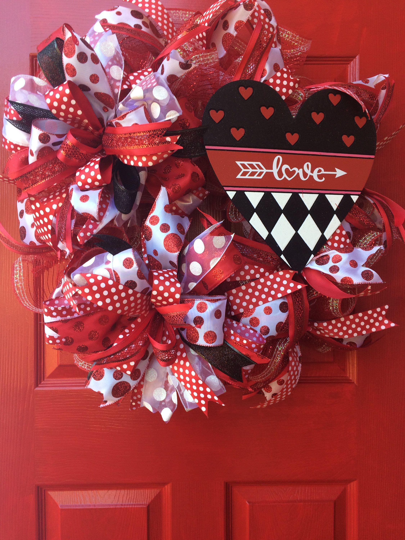 Valentines wreath red valentine wreath heart wreath front door valentines wreath red valentine wreath heart wreath front door wreath valentine gift rubansaba