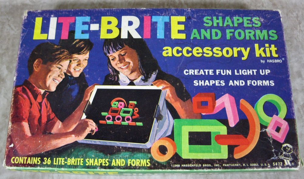 Lot of 2 Vintage Lite-Brite Accessory Kits from 1968  Kits 5470 & 5472 #Hasbro