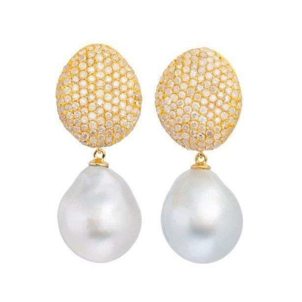 How Much Would These Divine Australian South Sea Pearl Earrings Look Fabulous With Just About Everything