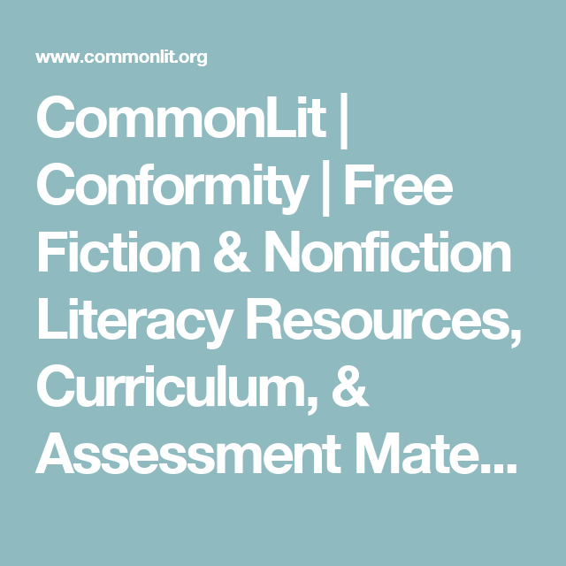 Conformity | Am Lit | Number the stars, High school english, The