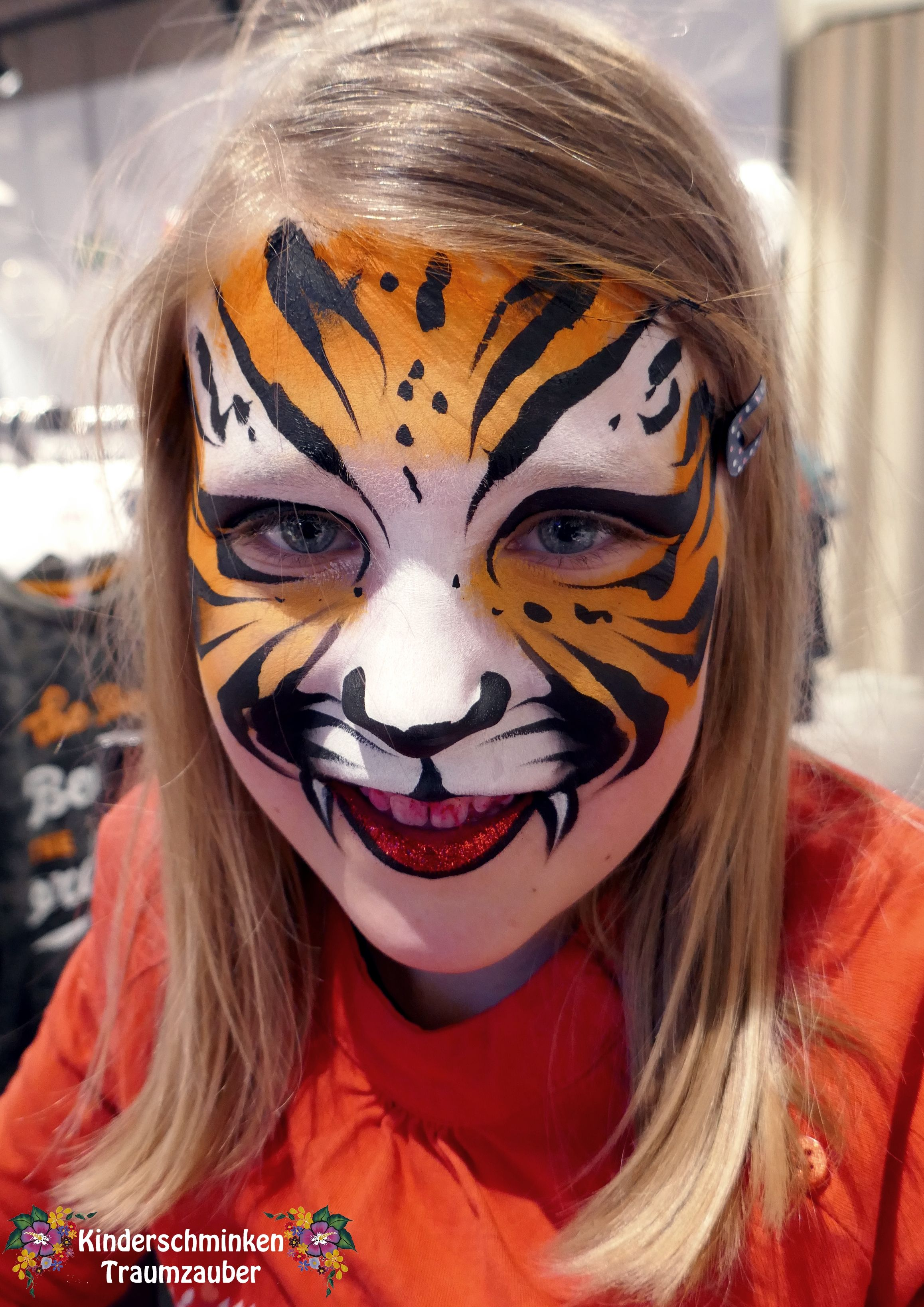 Kinderschminken Tiger Tiger By Kinderschminken Traumzauber Meine Motive Pinterest