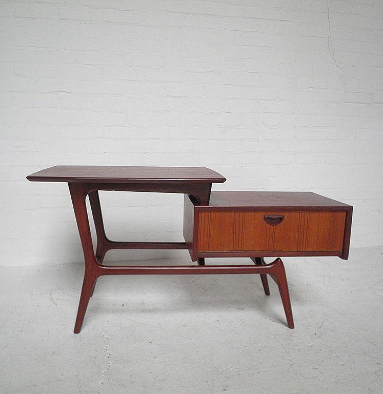 Webe tafel kast louis van teeffelen side table for the home pinterest side tables tables - Tafel tv vintage ...