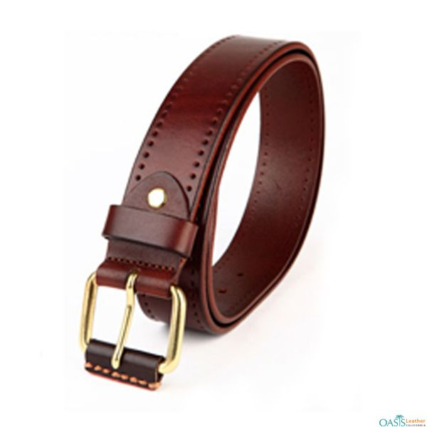 Look attractive in Dynamite Tan Leather Men Belt from Oasis Leather.
