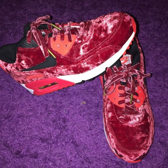 57d7085f19 ... uk size 7 cf8a1 5380f; sale air max 90 red velvet rare limited edition.  brand new with box nike shoes