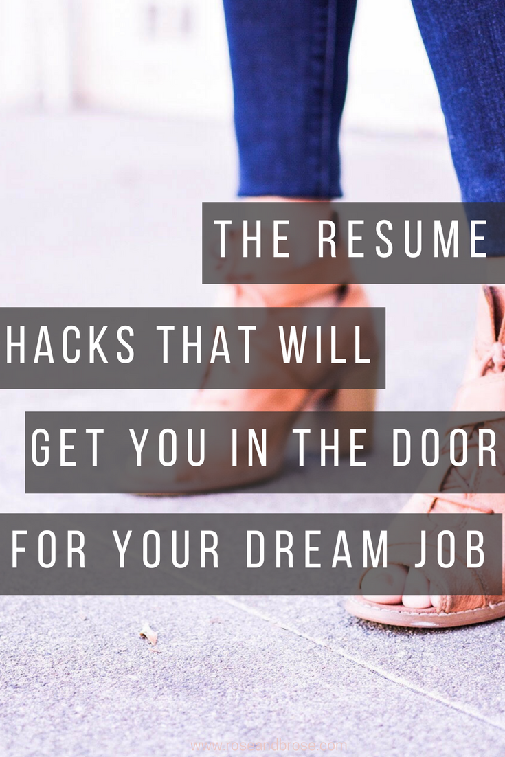 Resume Hacks That Will Get You In