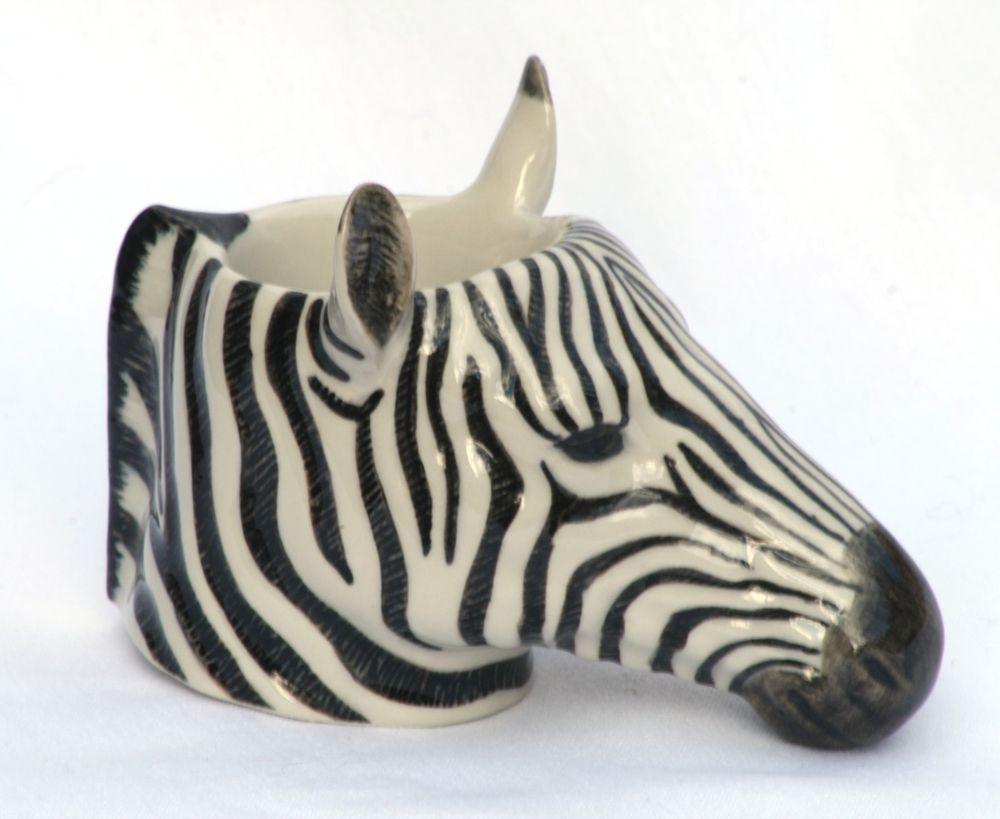 Zebra egg cup by Quail Pottery ceramic china Gift Boxed | Egg cups ...