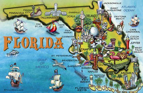 florida map for tourist
