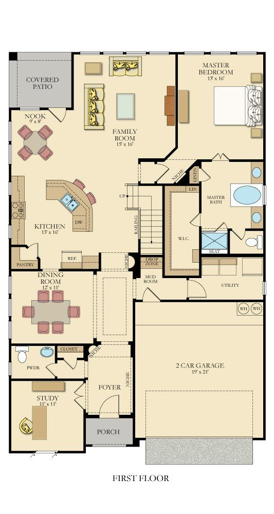 4351 mackenzie new home plan in willow grove by lennar for House behind house plans