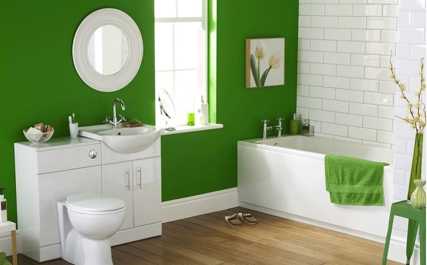 Genial How To Decorate A Small Bathroom On A Budget   Color And Style!
