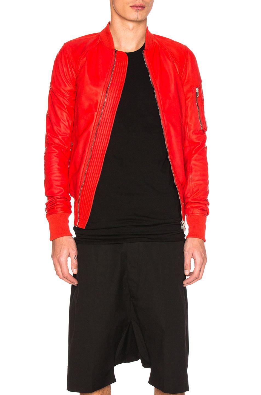 Rick Owens Raglan Leather Bomber Jacket Rickowens Cloth Leather Bomber Jacket Bomber Jacket Leather Bomber [ 1440 x 953 Pixel ]