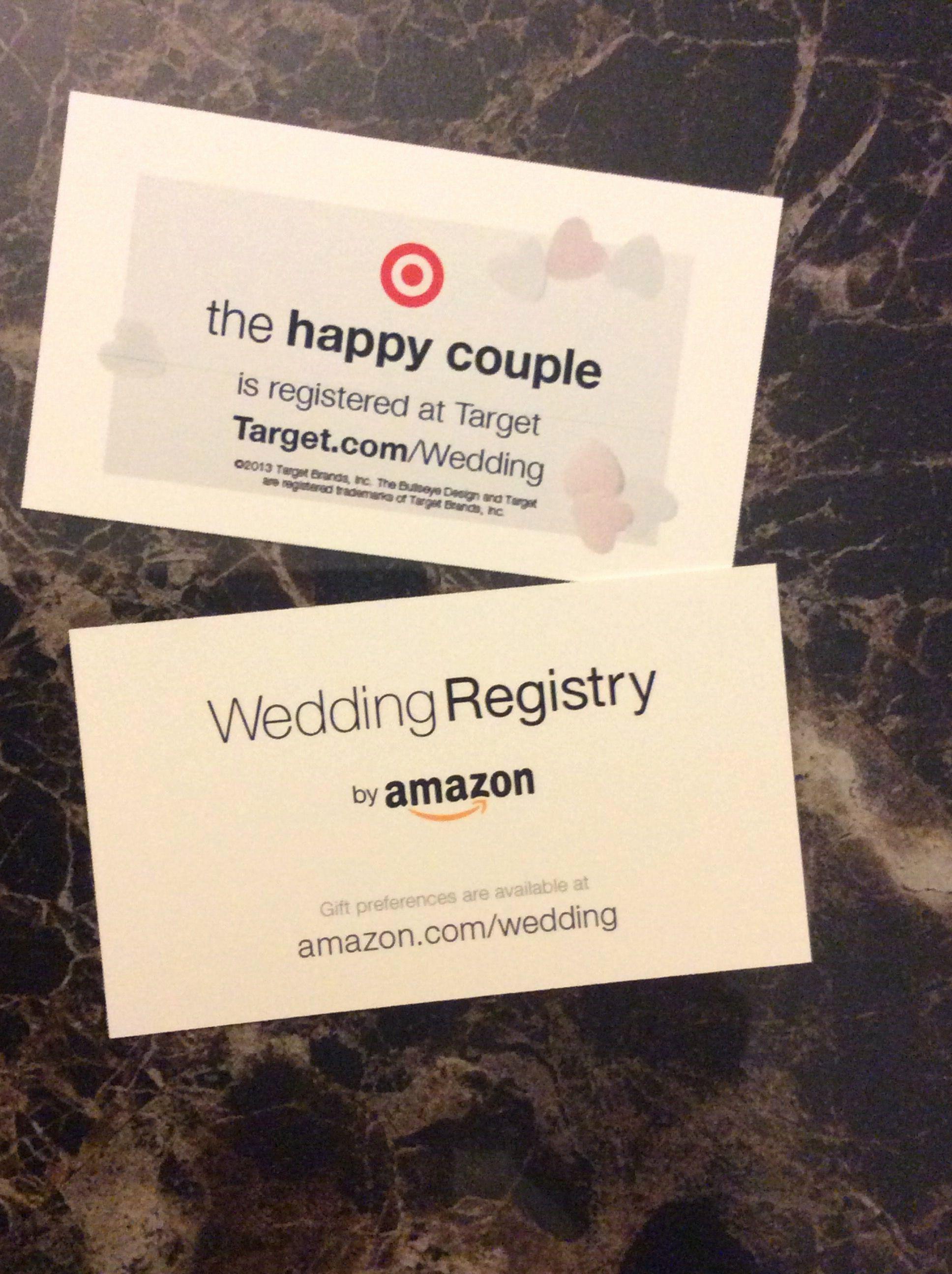 Wedding Registry Card Template Beautiful Wedding Registry Use Business Cards To Let People Know In 2020 Wedding Registry Cards Registry Cards Target Wedding Registry