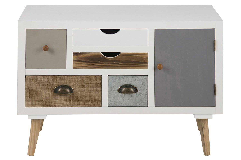 Ac Design Furniture 63375 Suwen Multi Drawer Chest 1 Door Pine