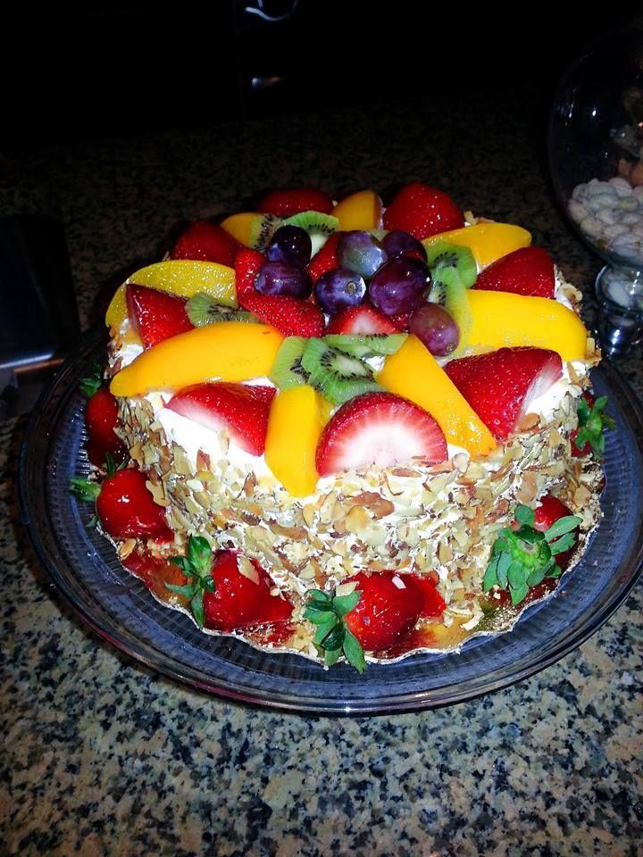 My favorite cake from publix strawberry peach sensation