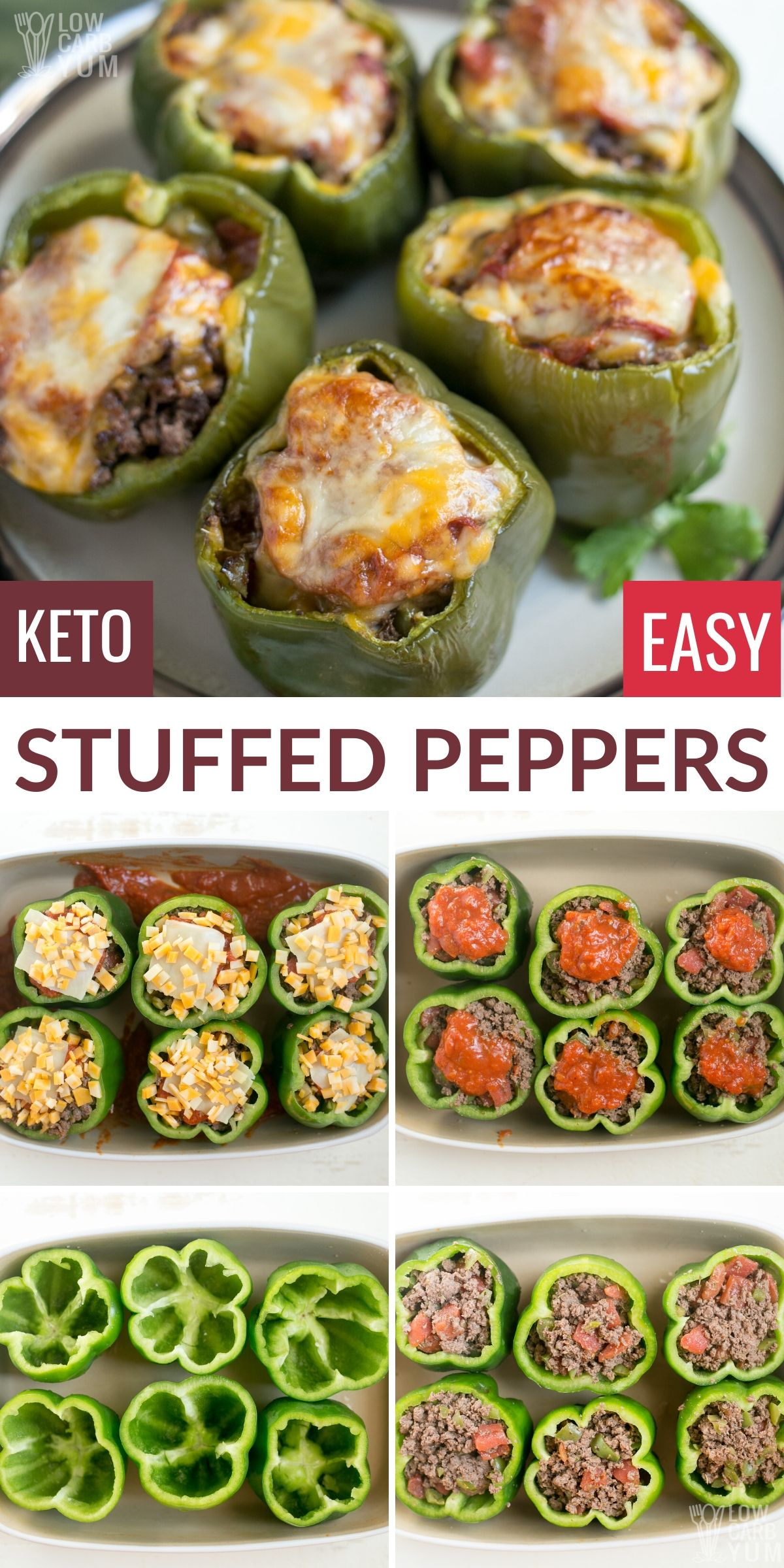 Keto Low Carb Stuffed Peppers With Beef In 2020 Low Carb Stuffed Peppers Keto Recipes Easy Keto Recipes Dinner