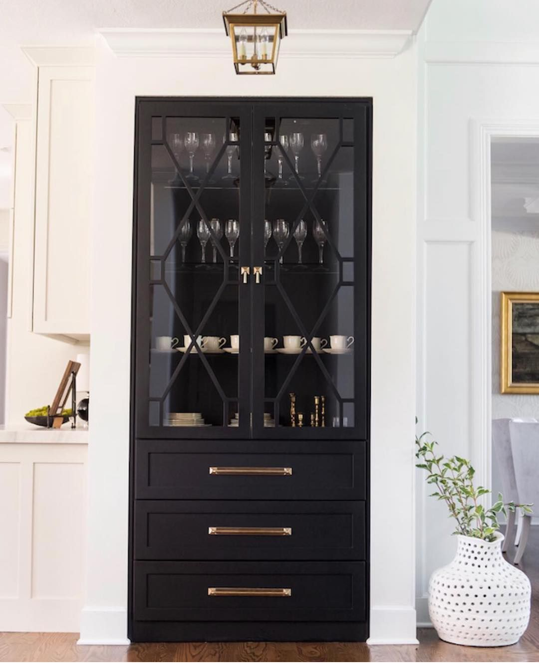 Emily A Clark On Instagram Love The Idea Of A Built In China Cabinet In The Kitchen Like This One Custom Designed By Home Decor Kitchen House Interior Home