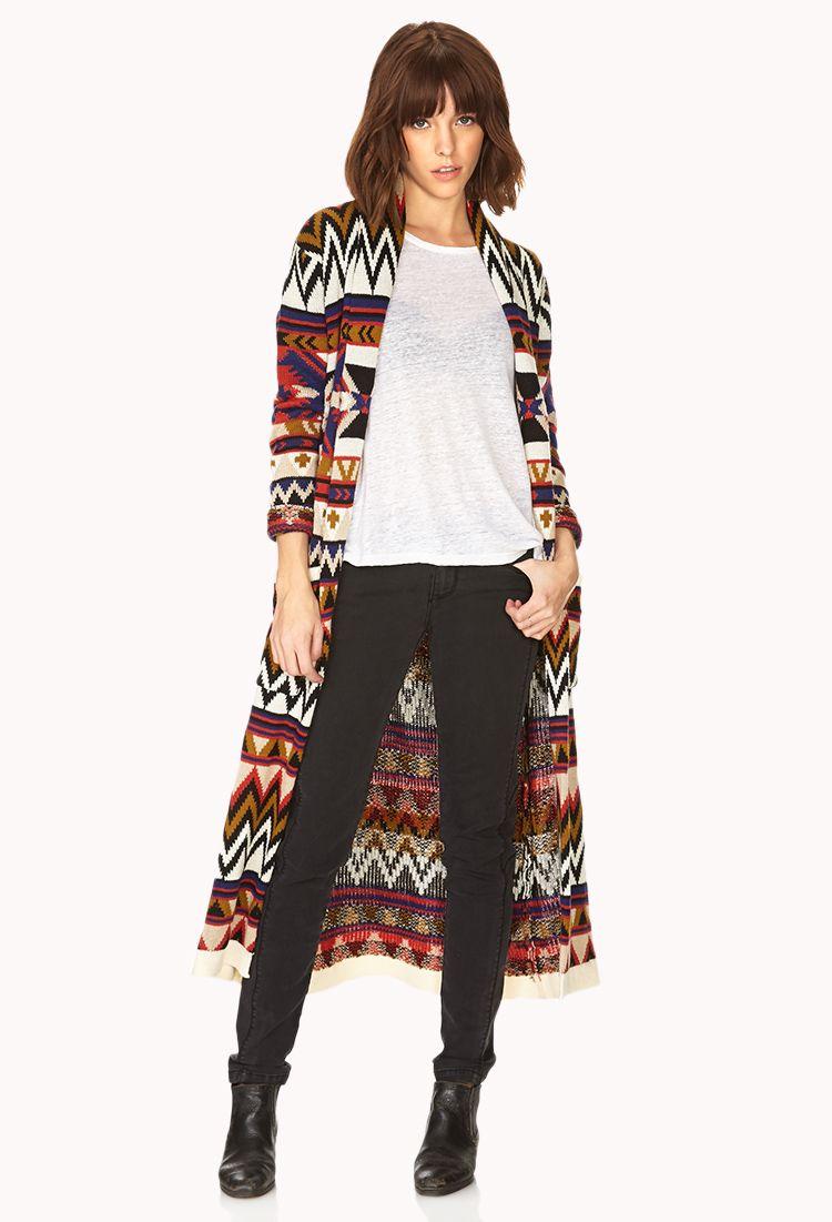Boho Maxi Cardigan | FOREVER21 - 2000090492 | Clothing | Pinterest ...