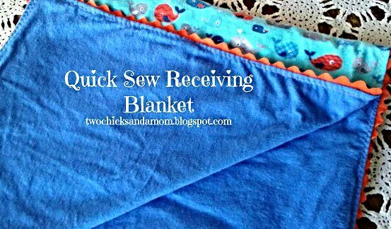Updated Quick Sew Blanket / A easy to sew baby blanket. Great for shower gifts! Featured on #OMHGWW