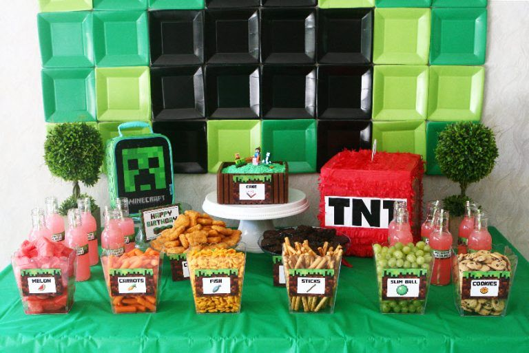Minecraft birthday party life is beautiful minecraft