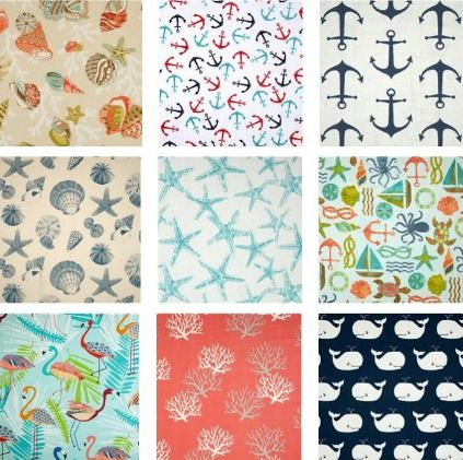 Fabrics From Seashell To Beach To Nautical With Images