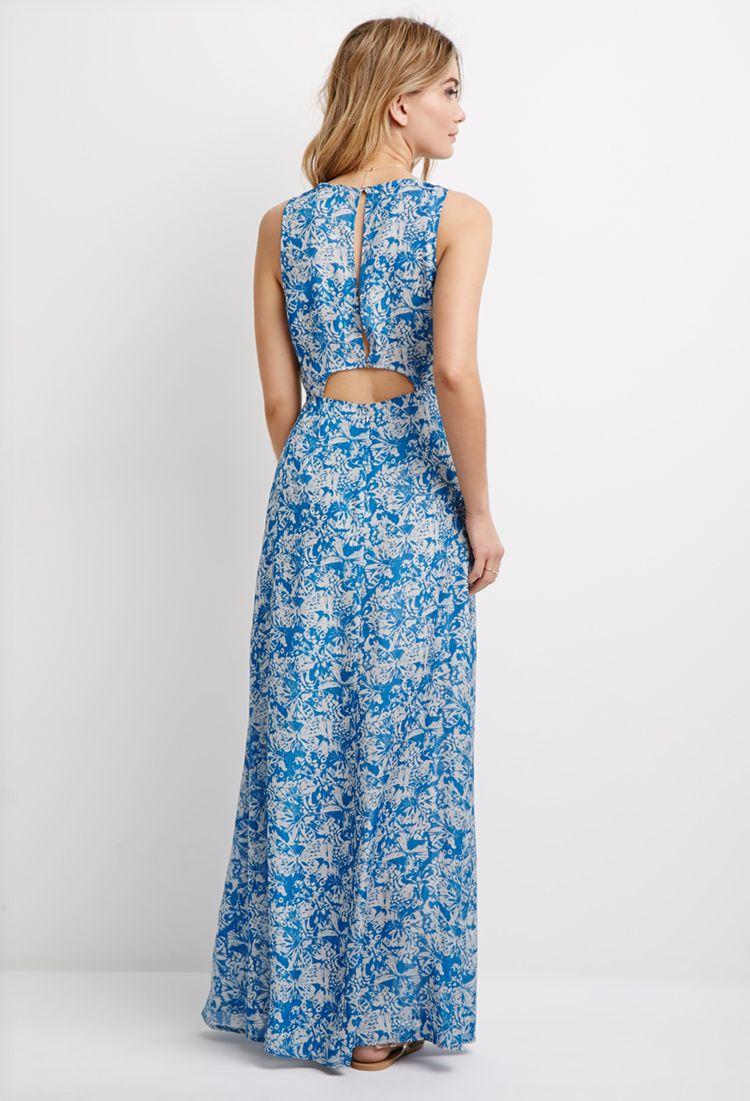 Butterfly Print Maxi Dress | Forever 21 | Pinterest | Butterfly ...