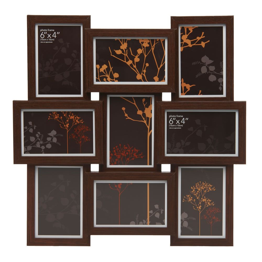 wilko photo frame multi aperture dark wood effect large dark wood frames photo