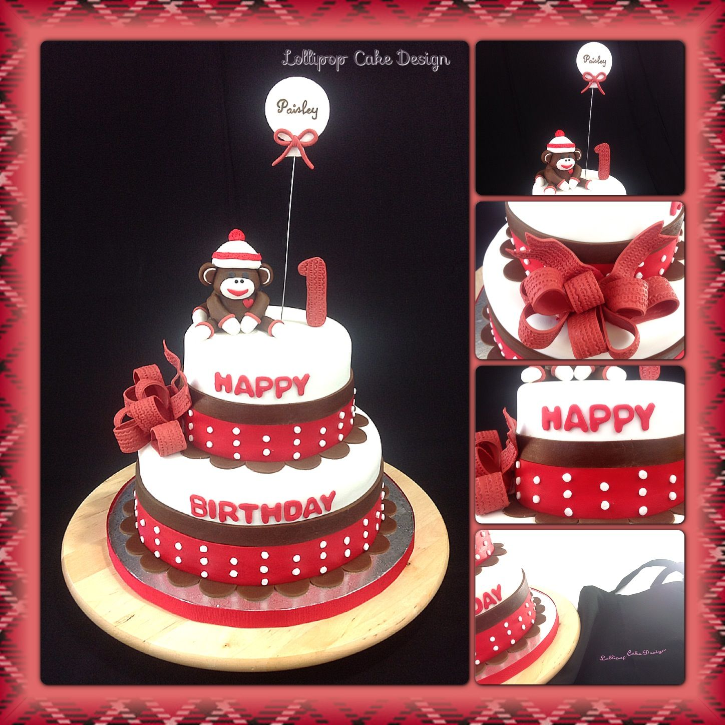 Prime Sock Monkey Birthday Cake With Images Monkey Birthday Cakes Funny Birthday Cards Online Barepcheapnameinfo