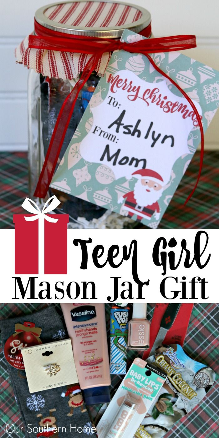 Teen girl mason jar gift idea christmas gift ideas pinterest