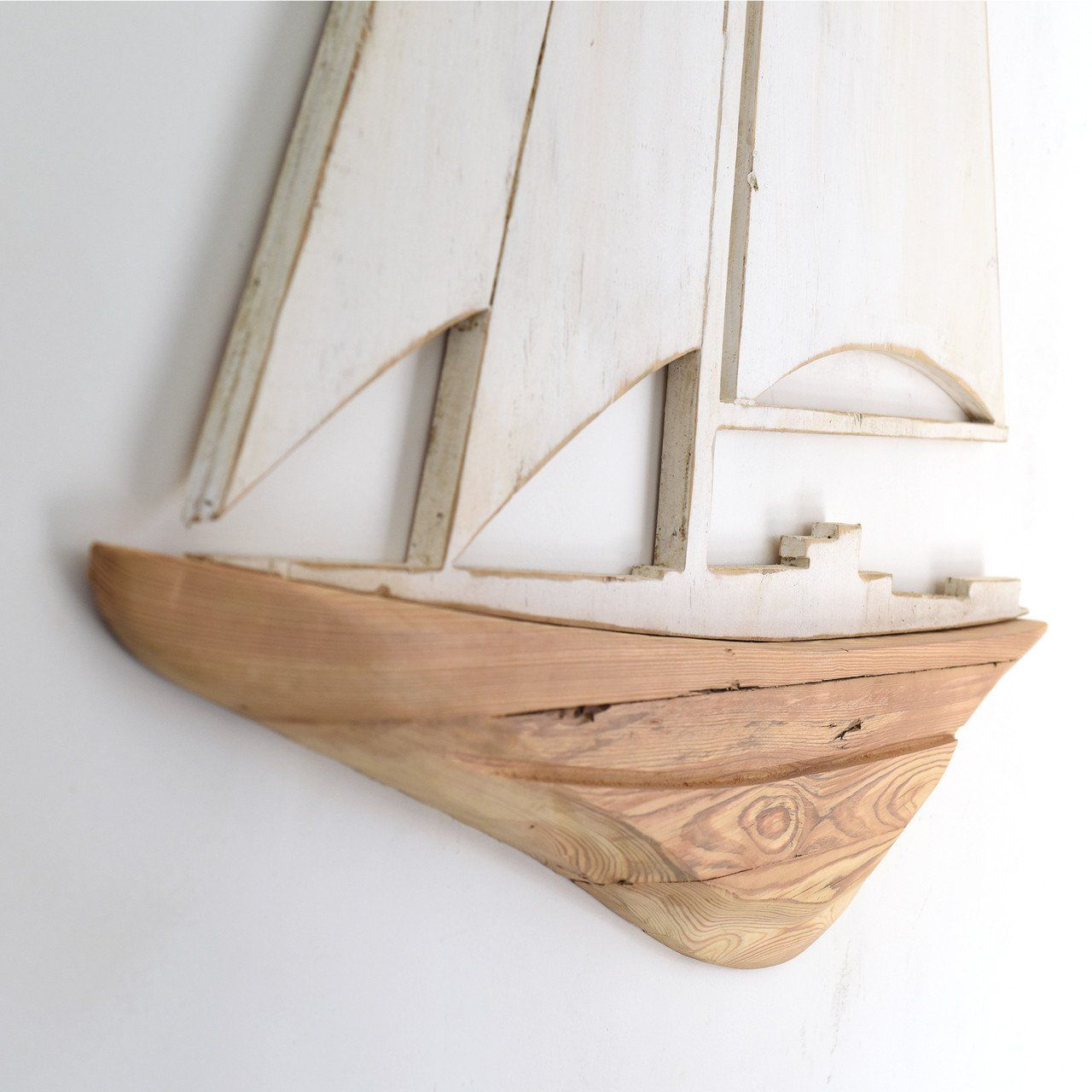 Sailboat Wooden Two Piece Wall Art