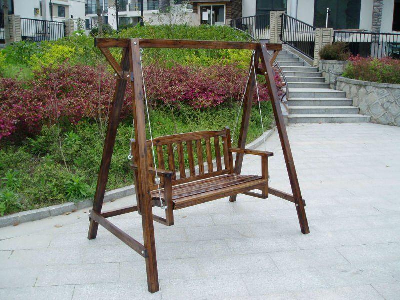 image detail for outdoor garden wooden baby swing chair set buy
