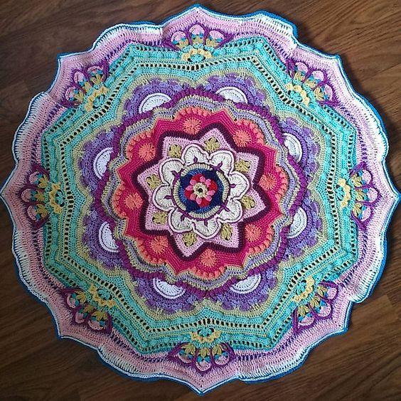 Mandala Alluncinetto Spiegazioni E Schemi 9 Crochet Pinterest