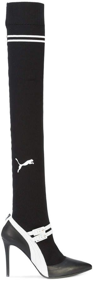 210e0f1f6cfa Fenty X Puma knitted high Mary-Jane boots