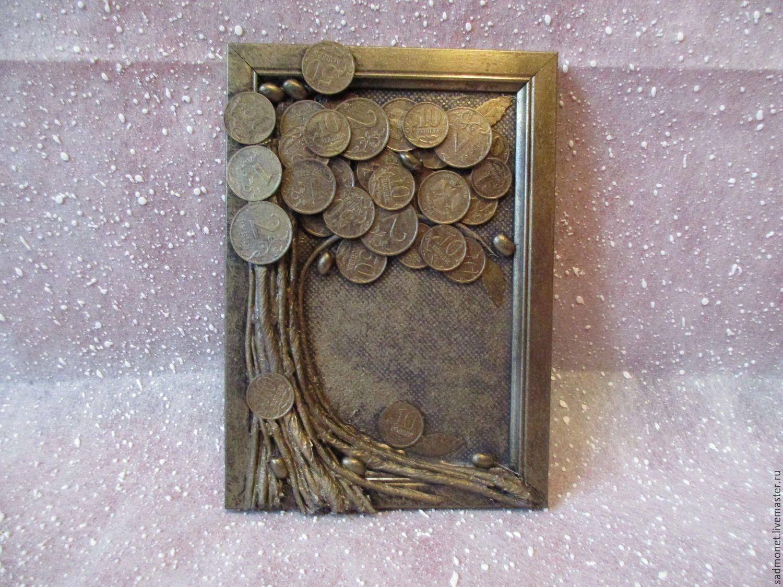 Для, как сделать открытку из монет