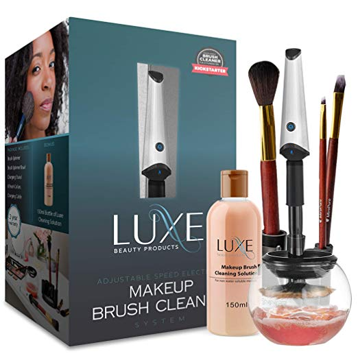 Photo of Amazon.com: Luxe Makeup Brush Cleaner – with USB Charging Station, Instantly Was…